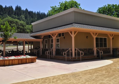 Roaring Camp Railroad Kitchen and Covered Dining Patio